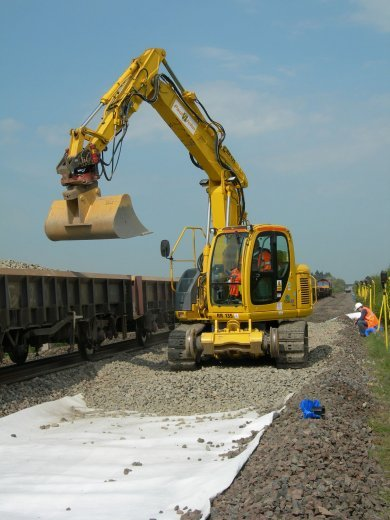 TERRAM Railways PW Geotextile used in trackbed