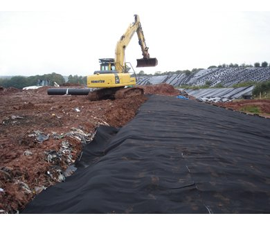 TERRAM robust geotextiles used in landfill capping applications