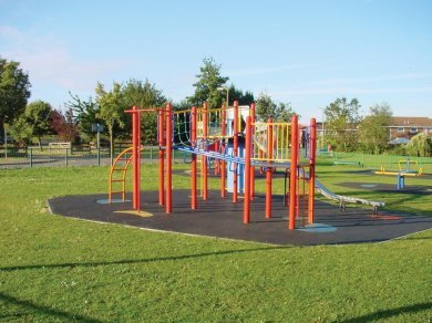 TERRAM Rubber ground reinforcement matting is ideal for childrens play areas