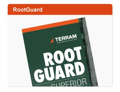 TERRAM Rootguard root control barrier fabric