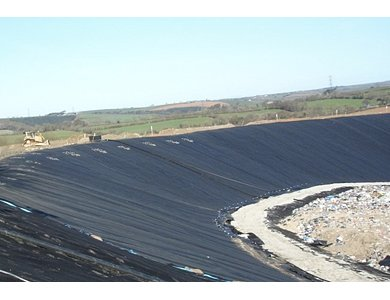Terram robust geotextiles protect landfill side slopes