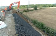 Controlling erosion on highway slopes